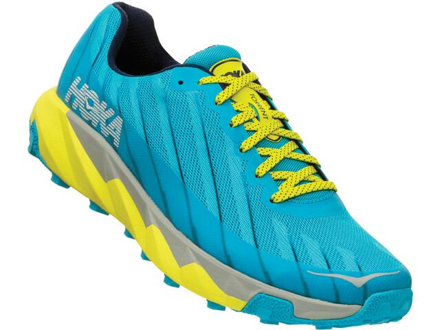 Hoka One One Torrent Running Shoes Herre cyan blue/citrus